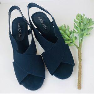 "Aerosoles Navy Sandal 2.5"" Heels"